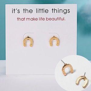 Jewelry - New | Lucky Horseshoe Earrings